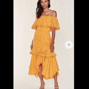Misa Los Angeles Bethina Ruffle Maxi Dress Small
